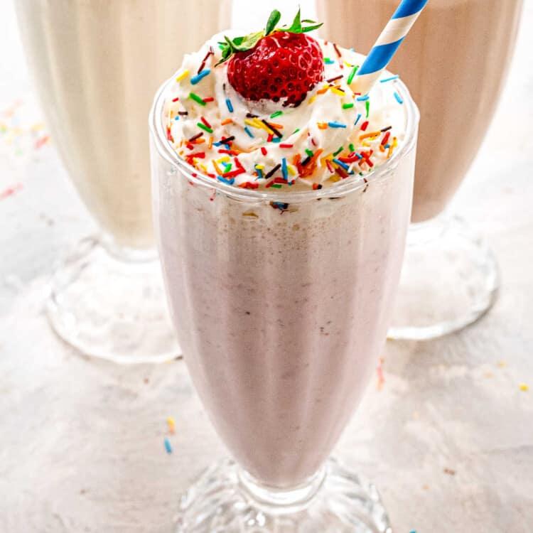 How to Make a Milkshake Square Cropped image