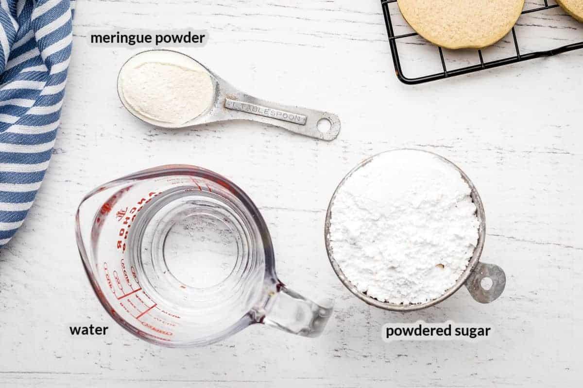 Overhead image of Royal Icing Ingredients