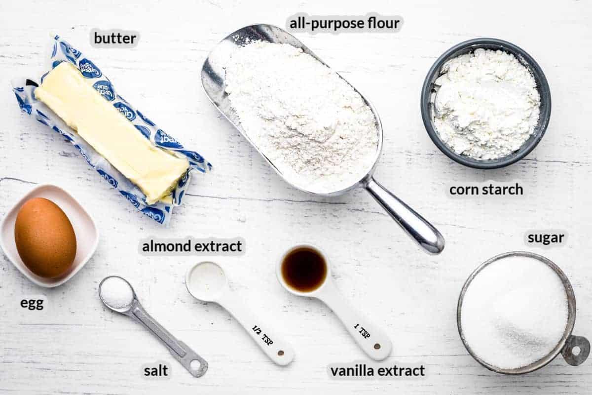 Overhead image of Sugar Cookie Ingredients