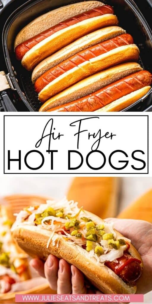 Air Fryer Hot Dogs JET Pin Image