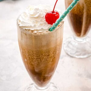 How to Make Root Beer Floats Square Cropped Image