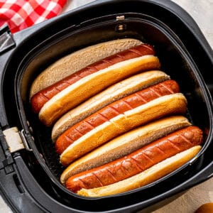 How to make hot dogs in air fryer square cropped