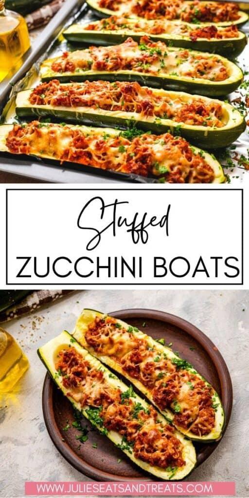 Stuffed Zucchini Boats JET Pin Image
