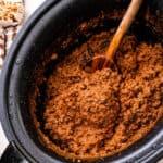 Crock Pot Taco Ingredients cropped image