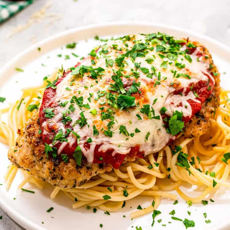 Baked Chicken Parmesan Square cropped image