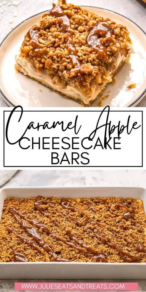 Caramel Apple Cheesecake Bars JET Pin Image