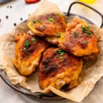 Easy Baked Chicken Thighs Square cropped image