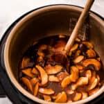 Cooked cinnamon apples in Instant Pot