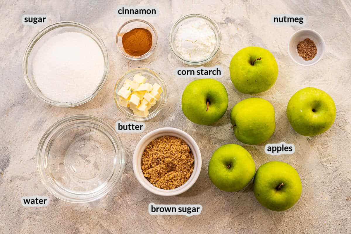 Instant Pot Cinnamon Apples Ingredients