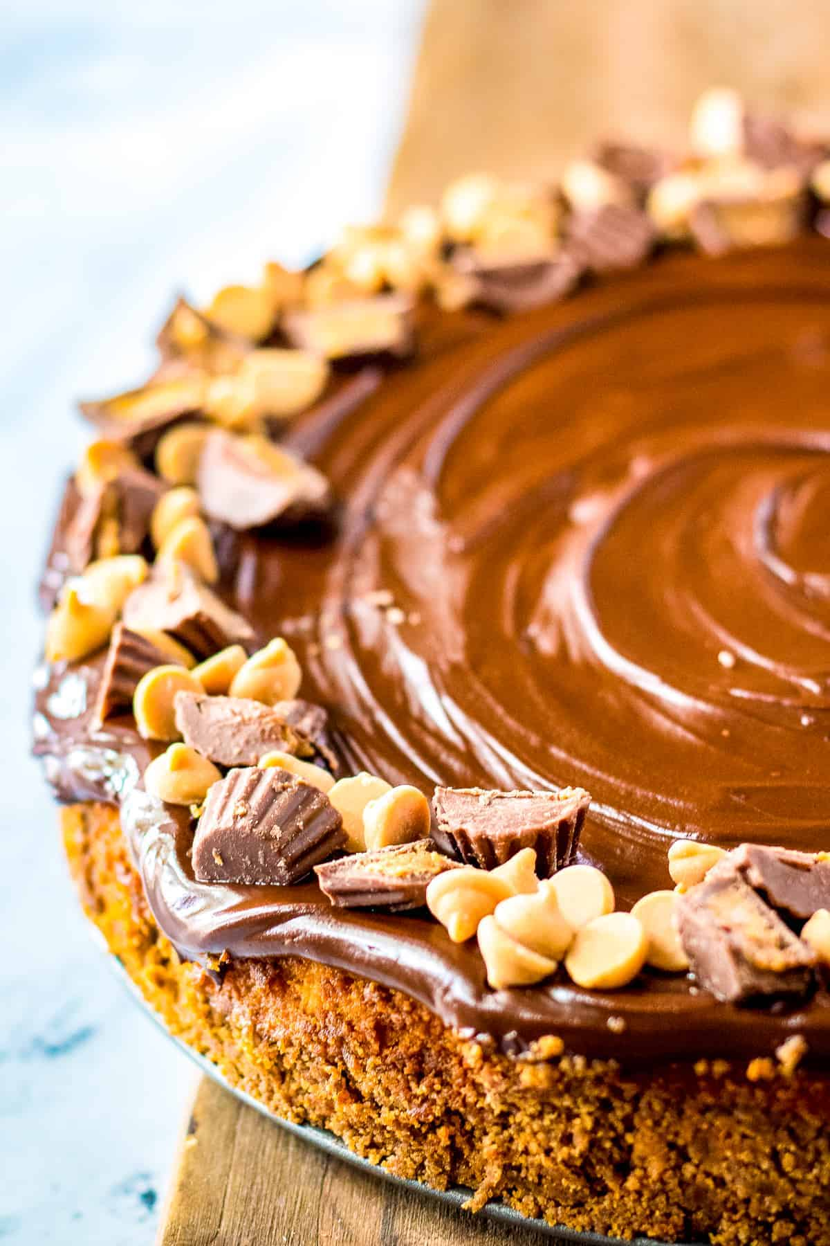 Half of a Peanut Butter Cup Cheesecake